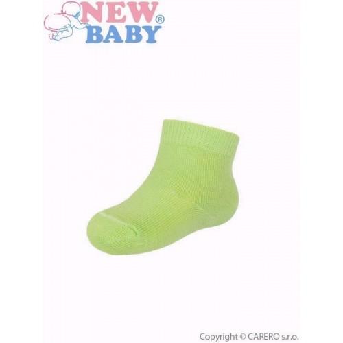Kojenecké bavlněné ponožky New Baby zelené Zelená 74 (6-9m)