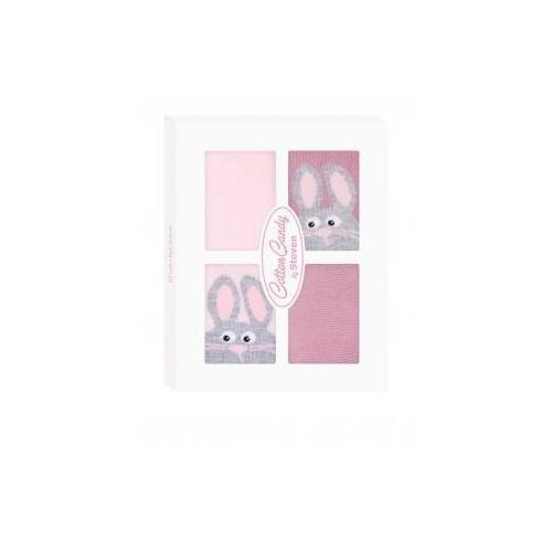 Kojenecké ponožtičky CANDY BOX - Králiček růžový, 17-19 vel. ponožek