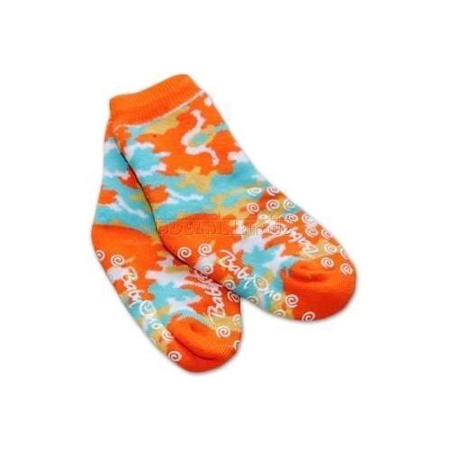Bavlněné protiskluzové froté ponožky 6-12m - oranž