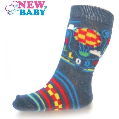 Kojenecké bavlněné ponožky New Baby šedé sky baloon Šedá 62 (3-6m)