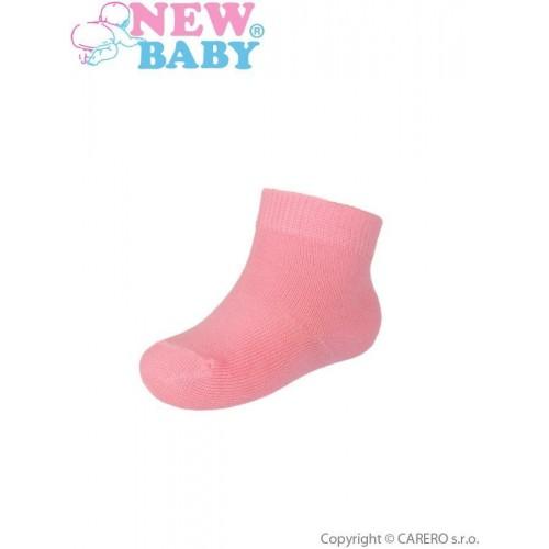 Kojenecké bavlněné ponožky New Baby růžové Růžová 74 (6-9m)