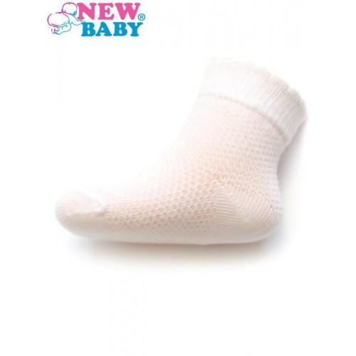 Kojenecké ponožky se vzorem New Baby bílé Bílá 86 (12-18m)