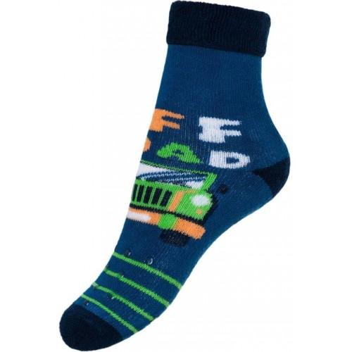 Dětské froté ponožky New Baby s ABS modré off road Modrá 80 (9-12m)