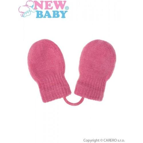 Dětské zimní rukavičky New Baby růžové Růžová 56 (0-3m)
