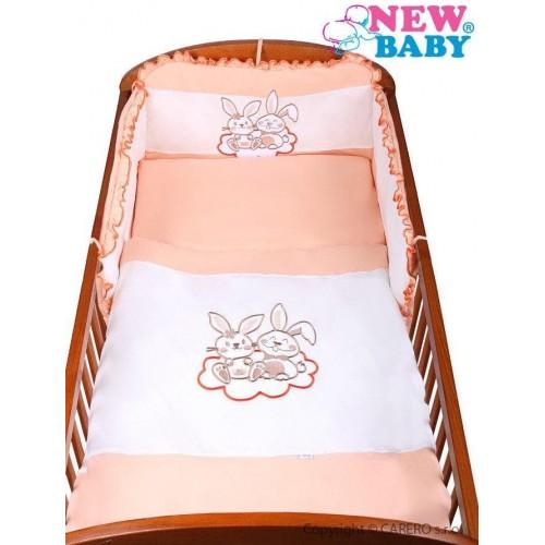 3-dílné ložní povlečení New Baby Bunnies 100/135 oranžové