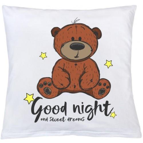 Polštář New Baby s potiskem Good night 40x40 cm