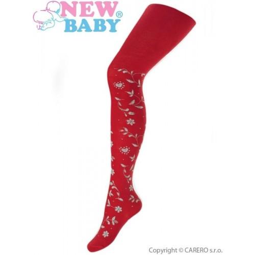 Bavlněné punčocháče 3D New Baby červené Červená 140 (9-10 let)