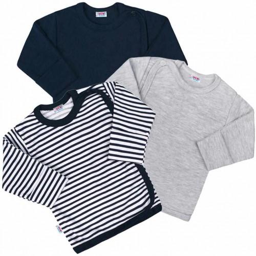 Kojenecká košilka New Baby Classic II Kluk 3ks Dle obrázku 56 (0-3m)