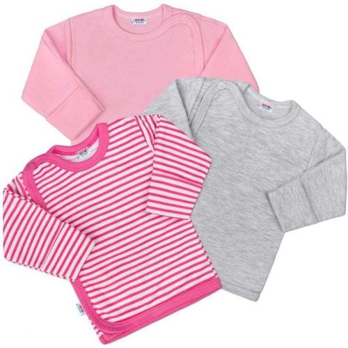 Kojenecká košilka New Baby Classic II Holka 3ks Dle obrázku 62 (3-6m)