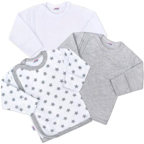 Kojenecká košilka New Baby Classic II Uni 3ks Dle obrázku 62 (3-6m)