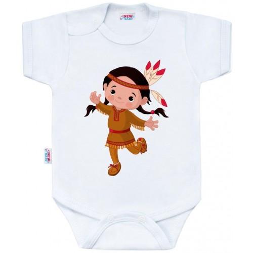 Body s potiskem New Baby Indian Girl Bílá 50