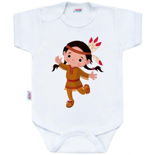 Body s potiskem New Baby Indian Girl Bílá 56 (0-3m)