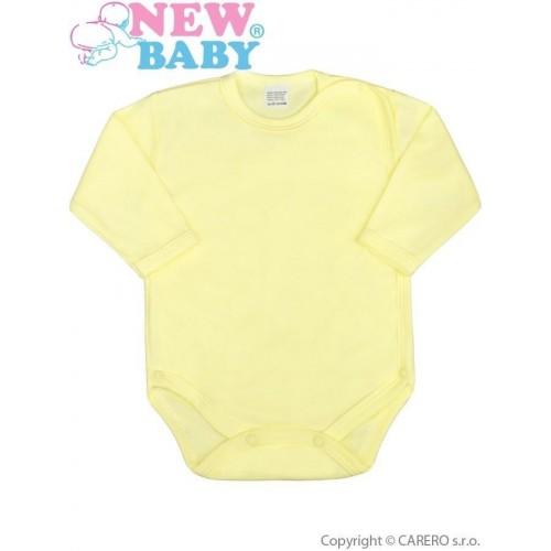 Kojenecké body celorozepínací New Baby Classic žluté Žlutá 50