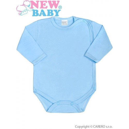 Kojenecké body celorozepínací New Baby Classic modré Modrá 56 (0-3m)