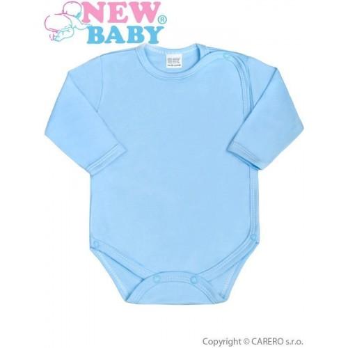 Kojenecké body celorozepínací New Baby Classic modré Modrá 62 (3-6m)