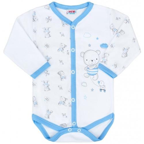 Kojenecké celorozepínací body New Baby Bears modré Modrá 56 (0-3m)