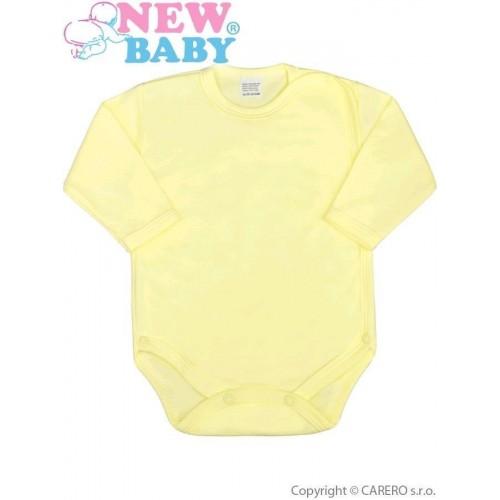 Kojenecké body celorozepínací New Baby Classic žluté Žlutá 62 (3-6m)
