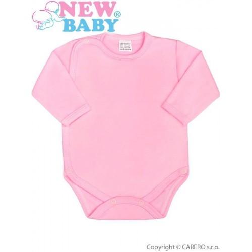 Kojenecké body celorozepínací New Baby Classic růžové Růžová 62 (3-6m)