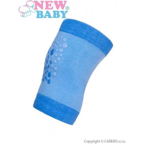 Dětské nákoleníky New Baby s ABS modré Modrá