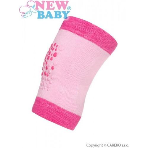 Dětské nákoleníky New Baby s ABS růžové Růžová