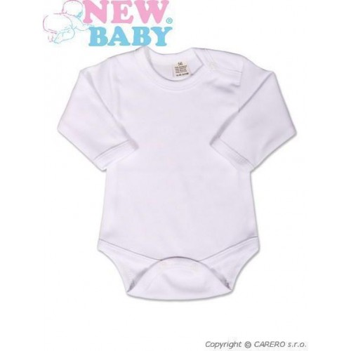 Body dlouhý rukáv New Baby - bílé Bílá 98 (2-3r)