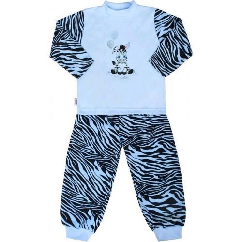Dětské bavlněné pyžamo New Baby Zebra s balónkem modré Modrá 128 (7-8 let)