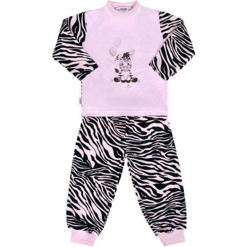Dětské bavlněné pyžamo New Baby Zebra s balónkem růžové Růžová 128 (7-8 let)
