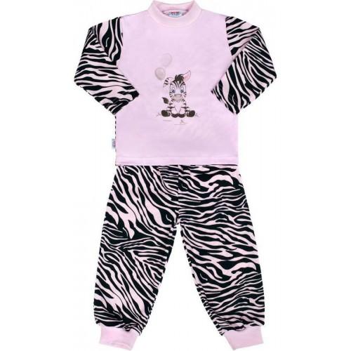 Dětské bavlněné pyžamo New Baby Zebra s balónkem růžové Růžová 122 (6-7 let)