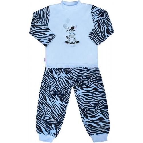 Dětské bavlněné pyžamo New Baby Zebra s balónkem modré Modrá 74 (6-9m)
