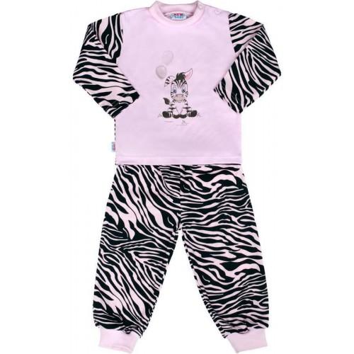 Dětské bavlněné pyžamo New Baby Zebra s balónkem růžové Růžová 74 (6-9m)