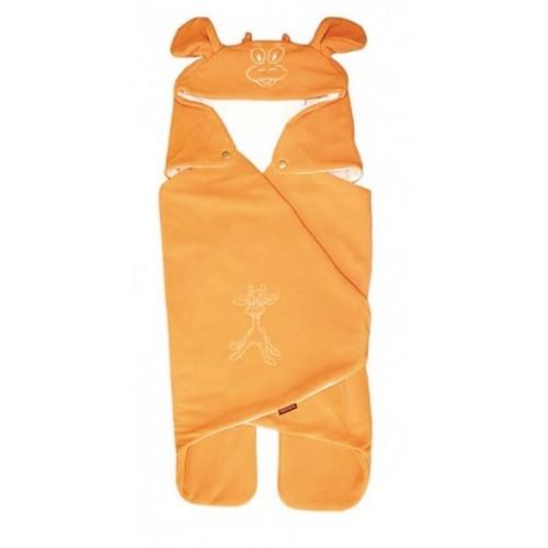 Emitex letní zavinovačka do autosedačky s kapucí, oranžová