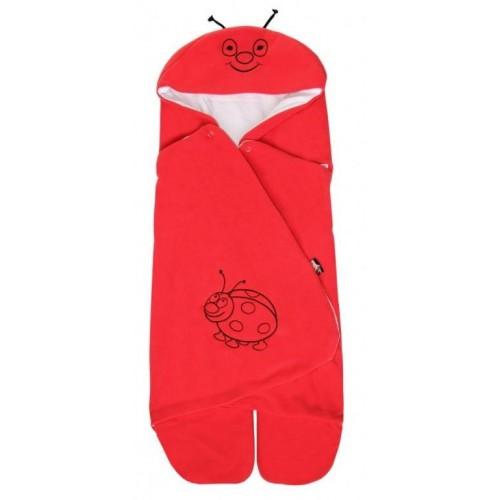 Emitex zavinovačka do autosedačky s kapucí, červená