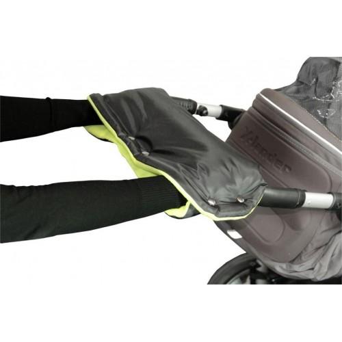 Emitex rukávník ke kočárku, černý/limetka