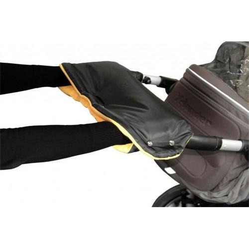 Emitex rukávník ke kočárku, černý/oranžový