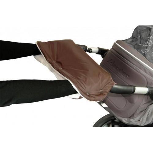 Emitex rukávník ke kočárku, hnědý/béžový