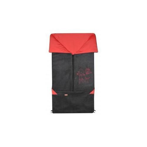 Emitex fusak 2v1 FANDA fleece/bavlna, antracit/červená