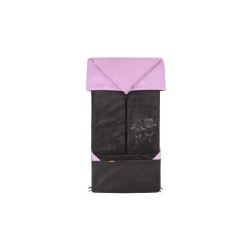 Emitex fusak 2v1 FANDA fleece/bavlna, antracit/lila