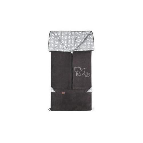 Emitex fusak 2v1 FANDA fleece/bavlna, antracit/šedé lišky