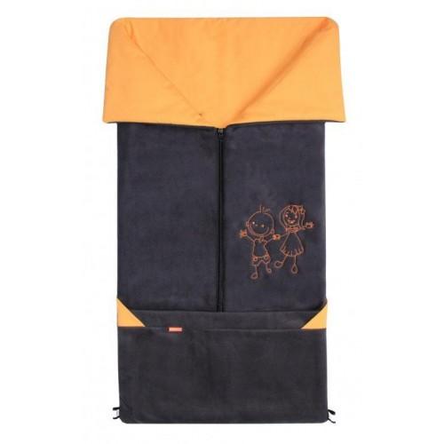 Emitex fusak 2v1 FANDA fleece/bavlna, antracit/oranžový