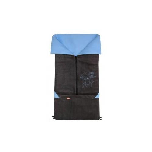 Emitex fusak 2v1 FANDA fleece/bavlna, antracit/sv.modrý