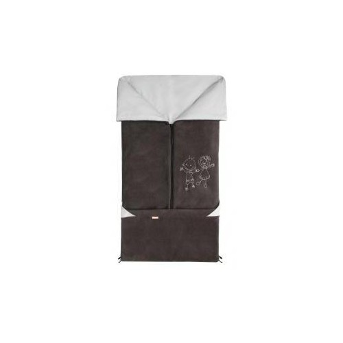 Emitex fusak 2v1 FANDA fleece/bavlna, antracit/světle šedý