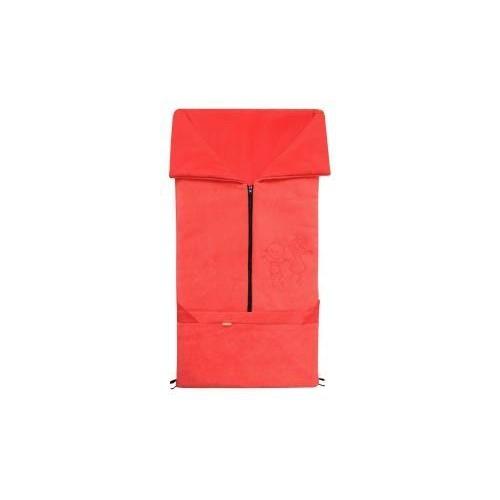 Emitex fusak 2v1 FANDA fleece/bavlna, červený