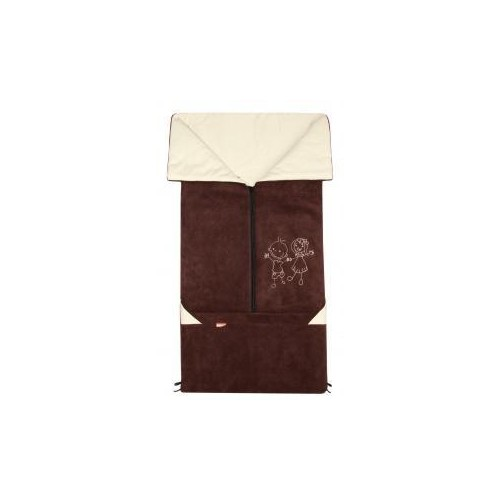 Emitex fusak 2v1 FANDA fleece/bavlna, hnědý/béžový