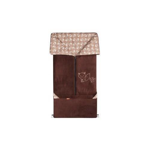 Emitex fusak 2v1 FANDA fleece/bavlna, hnědý/hnědé lišky