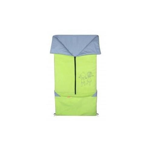 Emitex fusak 2v1 FANDA fleece/bavlna, limetka/světle šedý