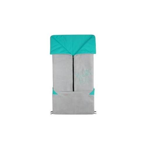 Emitex fusak 2v1 FANDA fleece/bavlna, světle šedý/aqua