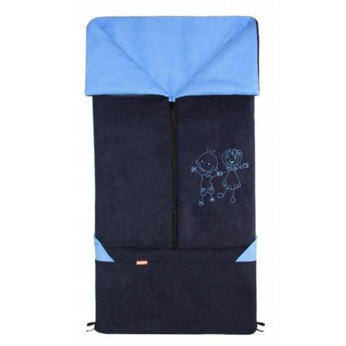 Emitex fusak 2v1 FANDA fleece/bavlna, tmavě modrý/světle modrý