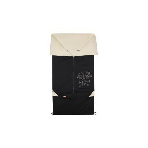 Emitex fusak 2v1 BARY bavlna, černý/béžový