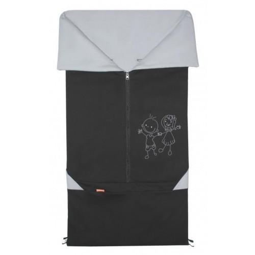 Emitex fusak 2v1 BARY bavlna, černý/šedý