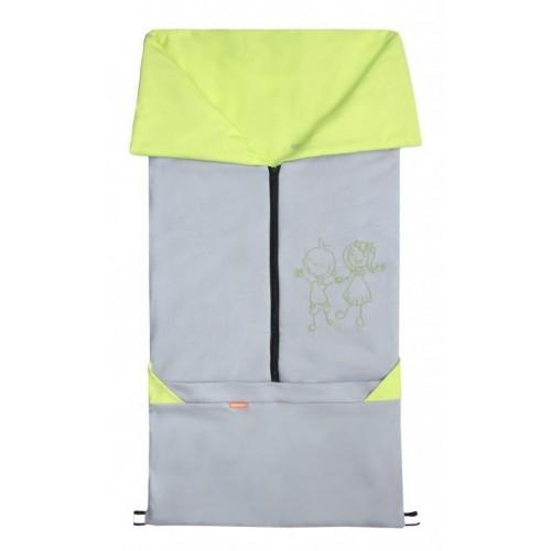 Emitex fusak 2v1 BARY bavlna, šedý/limetka